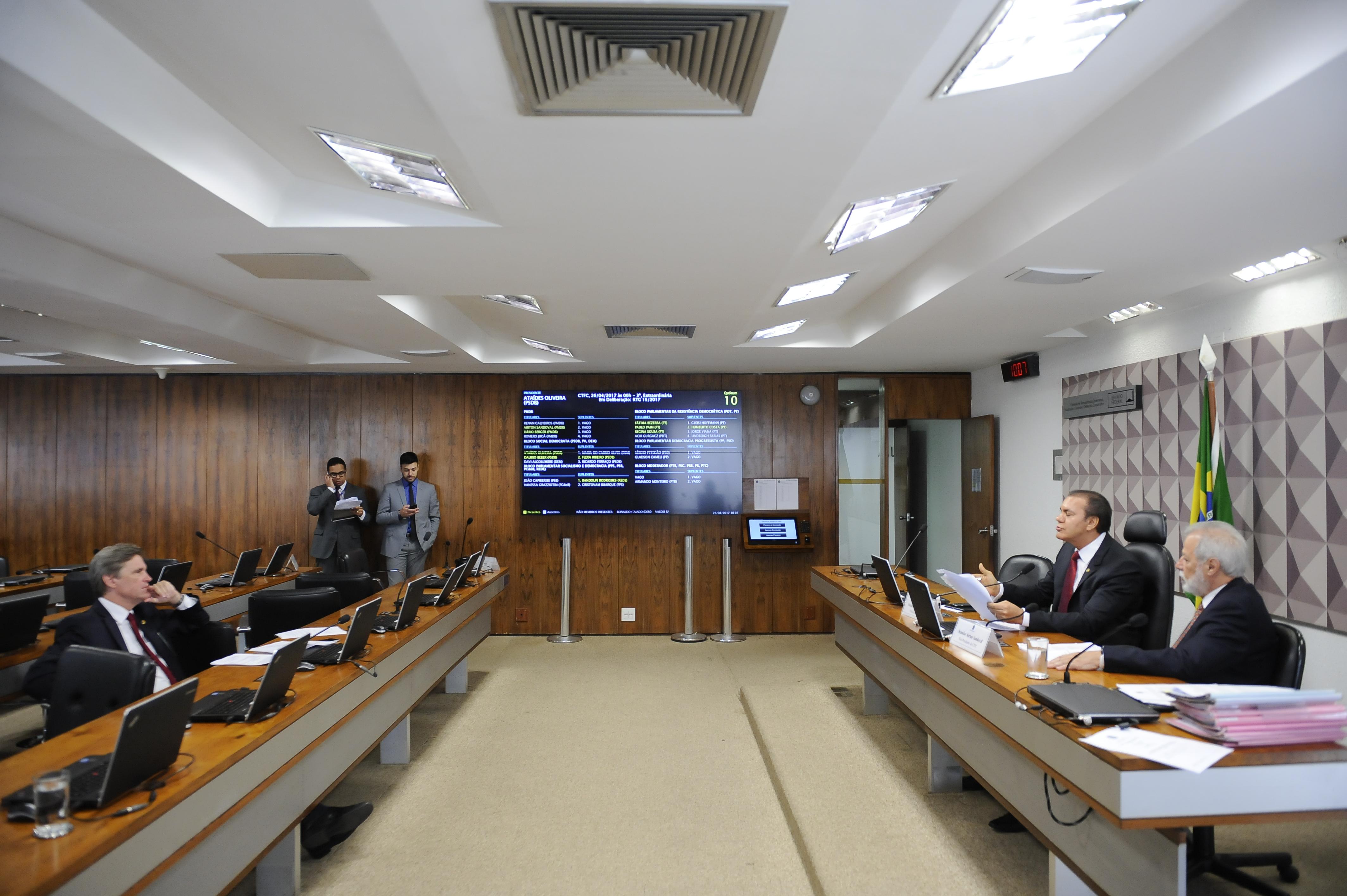 Comissão de Transparência, Governança, Fiscalização e Controle e Defesa do Consumidor (CTFC) -  Foto: Pedro França/Agência Senado