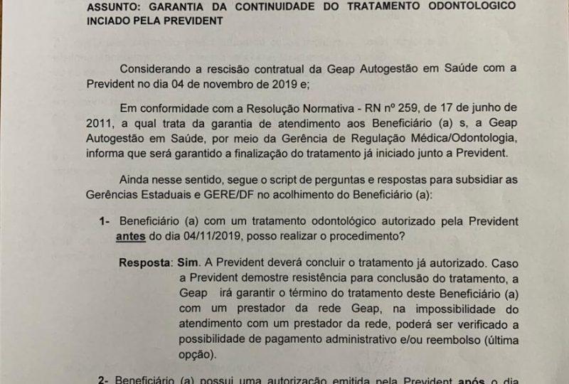 151.1 GEAP reincide contrato com prestadora de serviços odontológicos