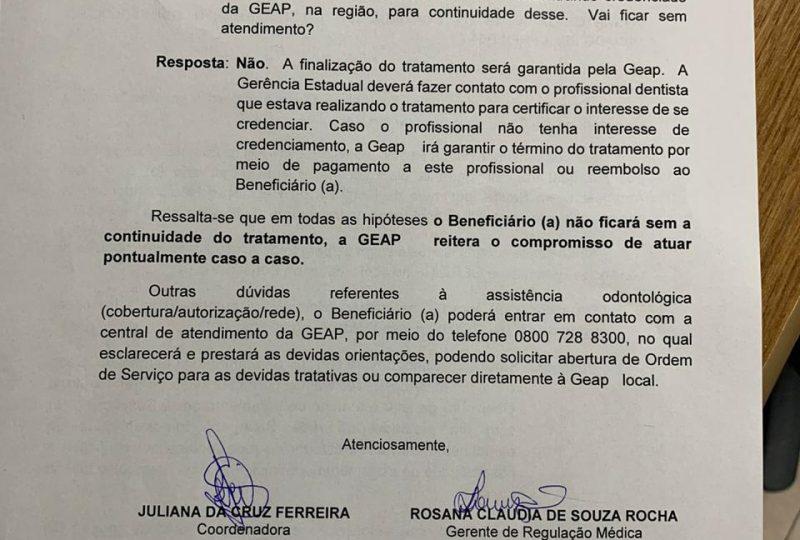 151.2 GEAP reincide contrato com prestadora de serviços odontológicos